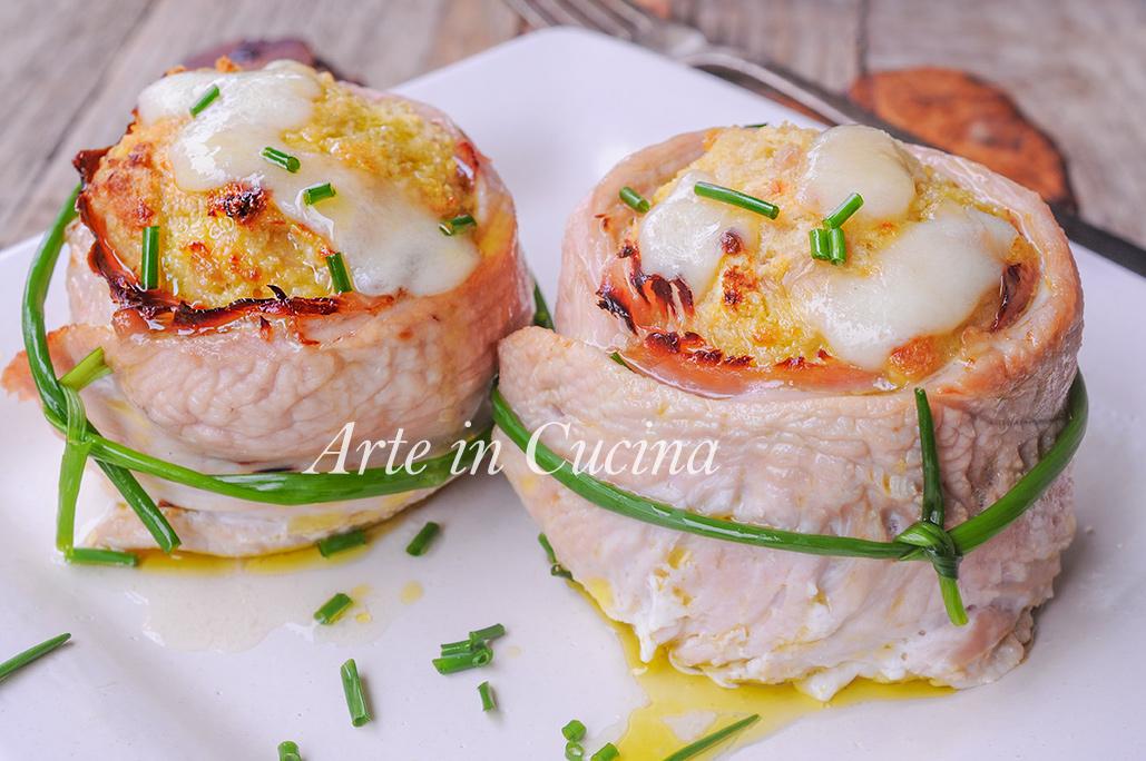 Girelle di tacchino al forno ripiene ricetta leggera vickyart arte in cucina