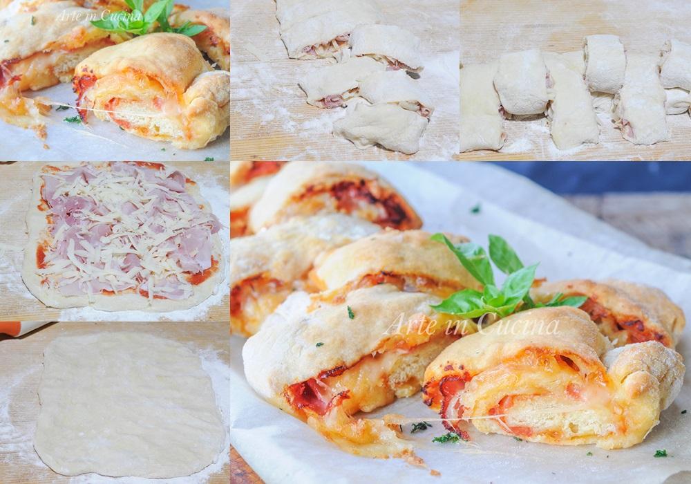 Pane al formaggio e prosciutto ricetta veloce vickyart arte in cucina
