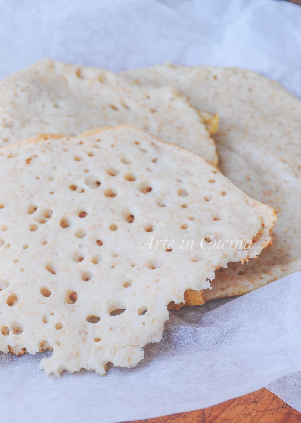Pane injera ricetta africana Eritrea facile vickyart arte in cucina
