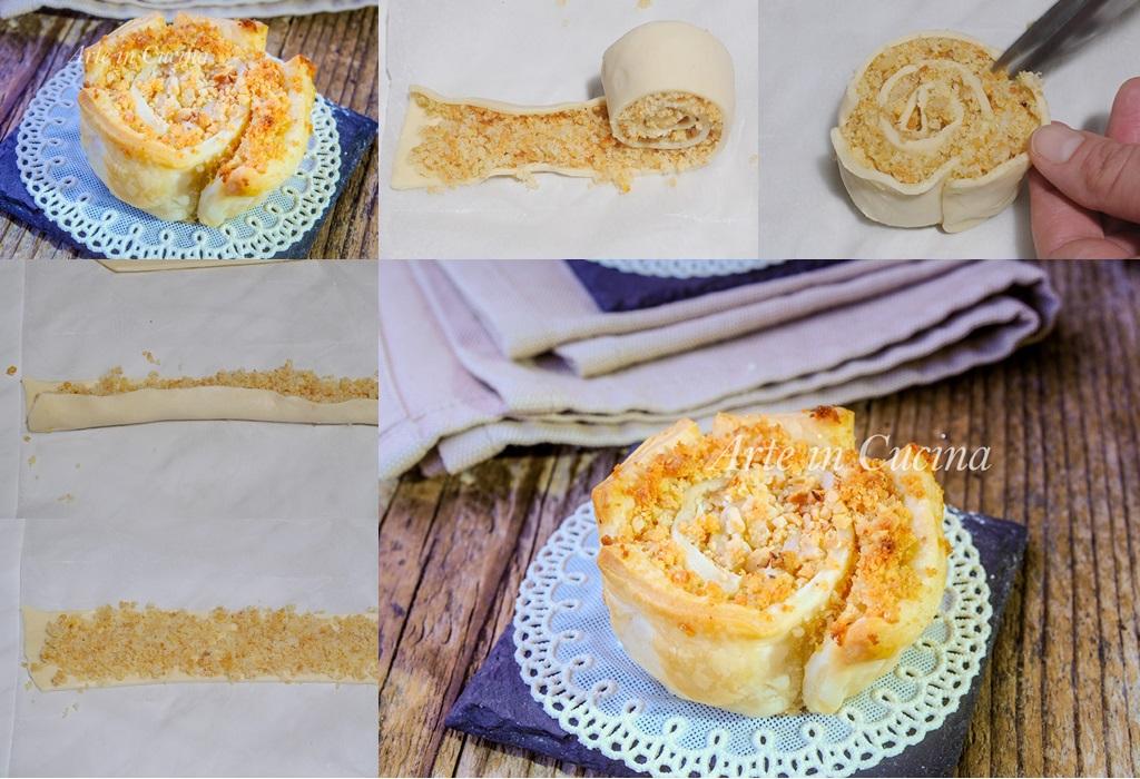 Rose di sfoglia frutta secca e pan di spagna vickyart arte in cucina