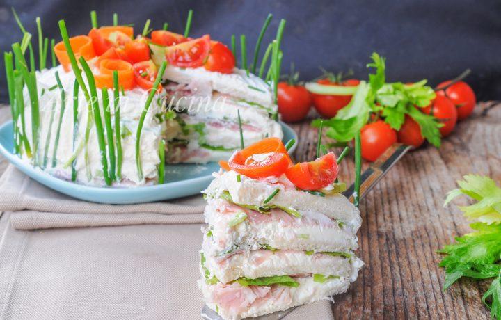 Torta tramezzino sandwich ricetta veloce antipasto