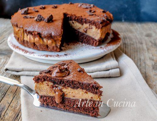 Torta versata nutella e cioccolato alla ricotta