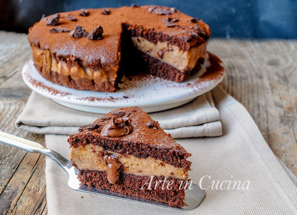 Torta versata nutella e cioccolato alla ricotta vickyart arte in cucina