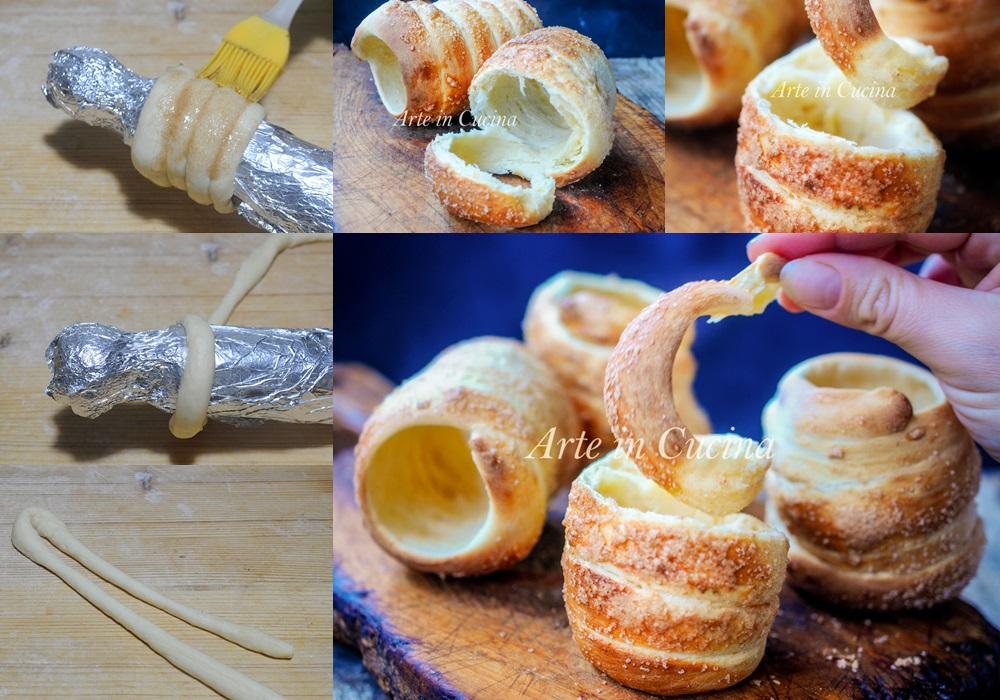 Trdlo manicotti di Bohemia ricetta dolce facile vickyart arte in cucina