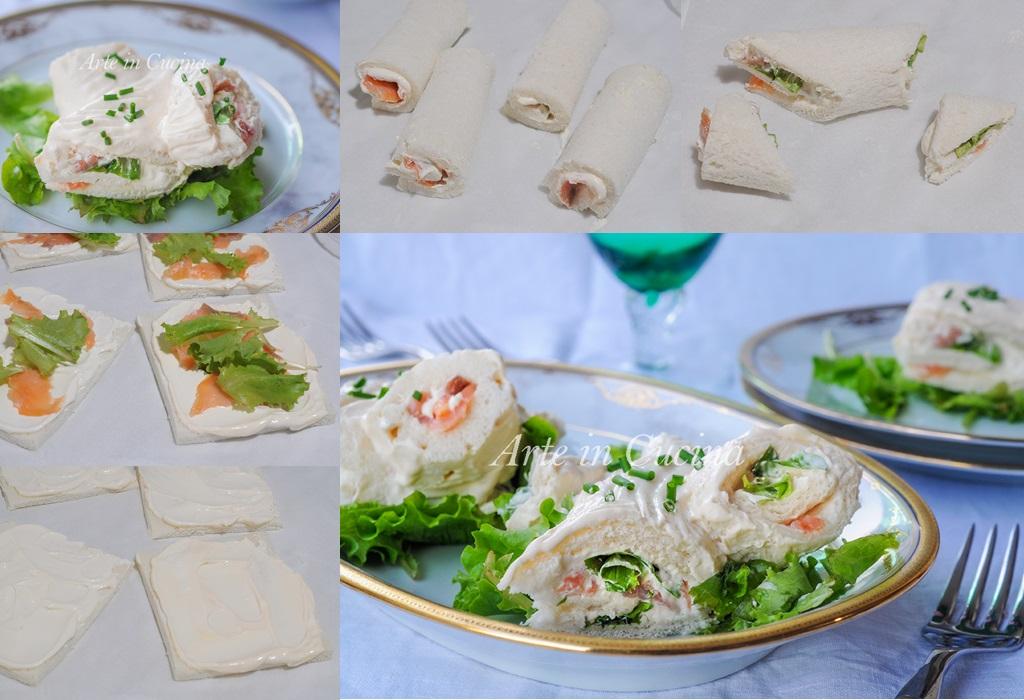 Tronchetto salmone e ricotta finger food veloce vickyart arte in cucina