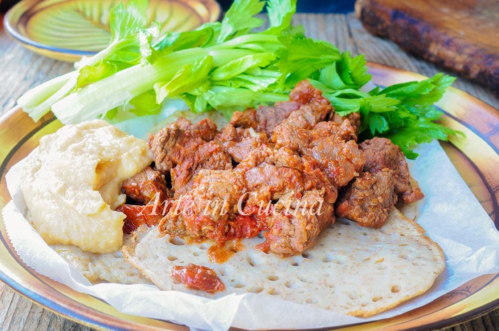 Zighinì ricetta eritrea con carne speziata vickyart arte in cucina
