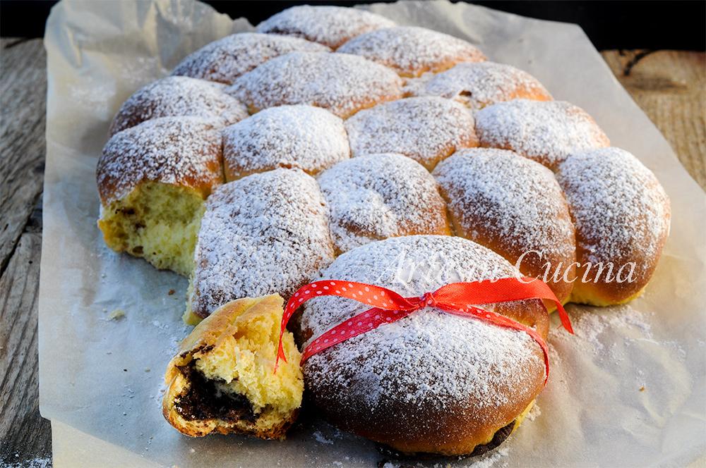 Albero danubio farcito dolce o salato ricetta brioche for Cucina dolce