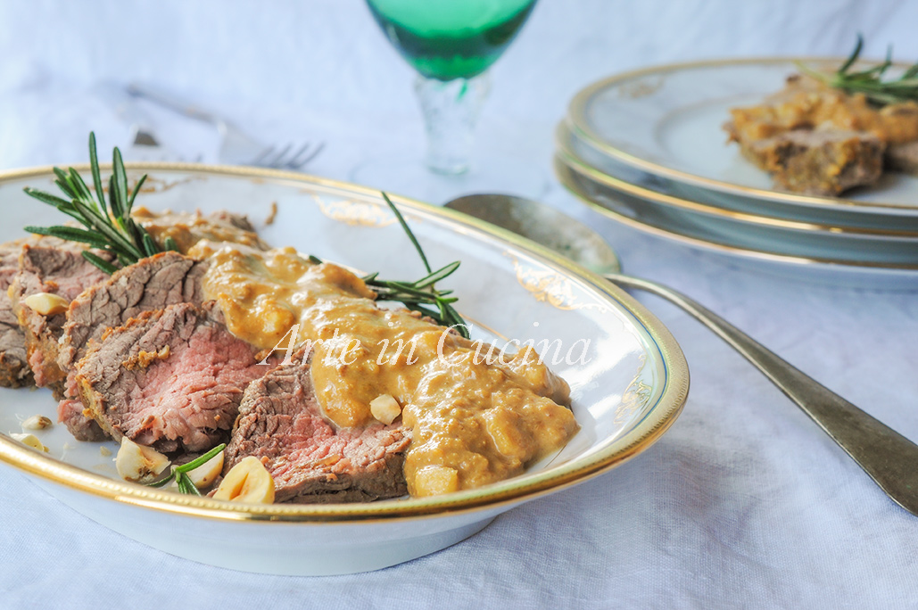 Arrosto di vitello alle nocciole ricetta piemontese vickyart arte in cucina