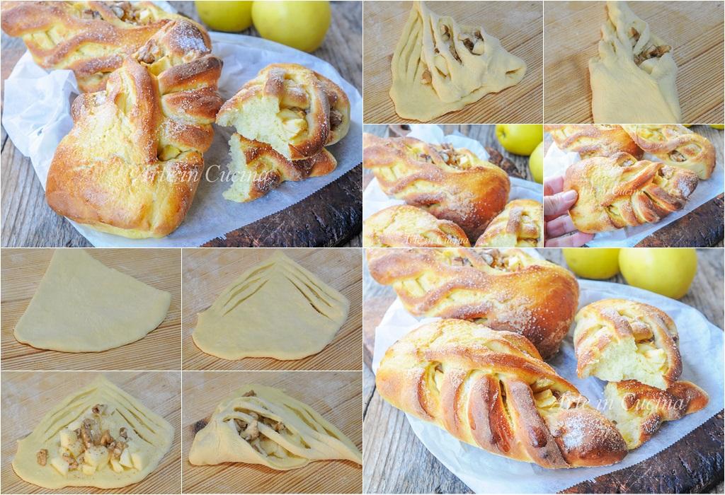 Brioche alle mele noci e cannella ricetta facile vickyart arte in cucina