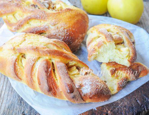 Brioche alle mele noci e cannella ricetta facile