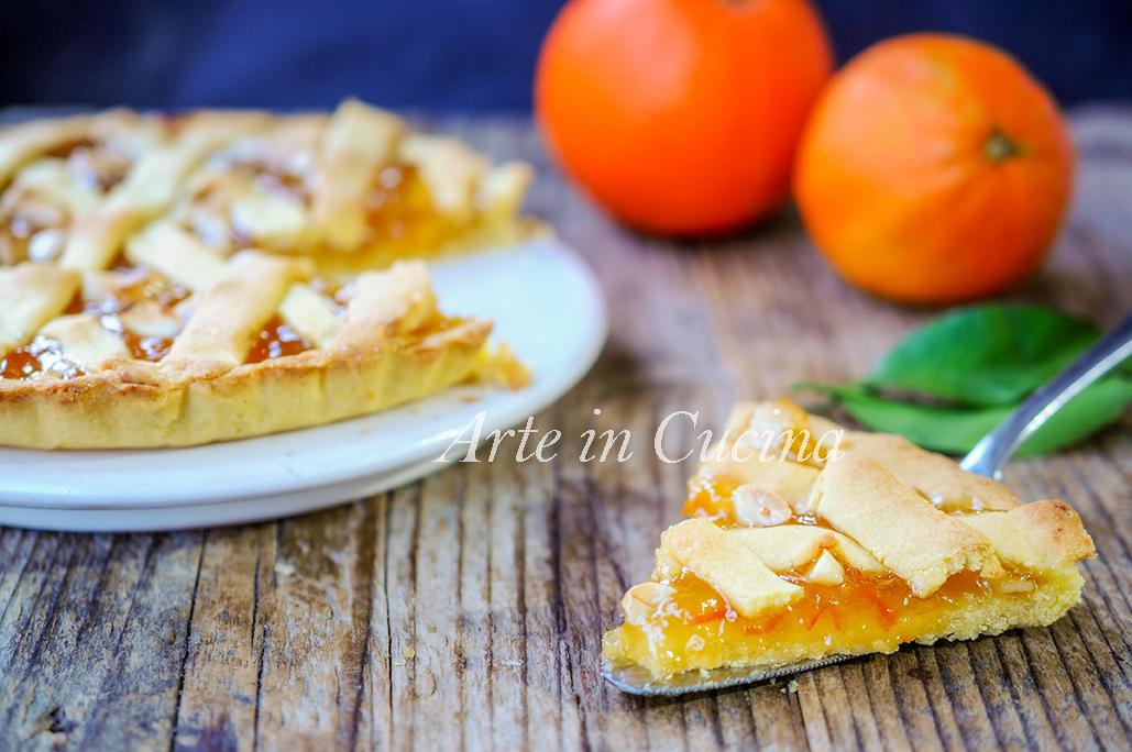 Crostata alle mandorle e marmellata di arance