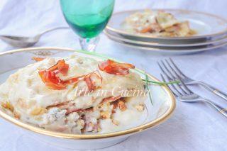 Lasagne gorgonzola speck e noci con besciamella vickyart arte in cucina
