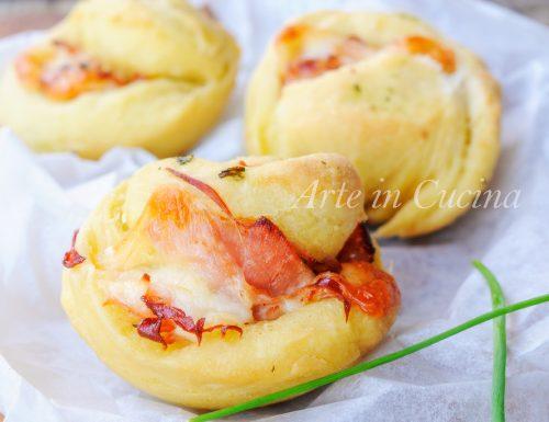 Muffin lievitati salati al prosciutto congelabili