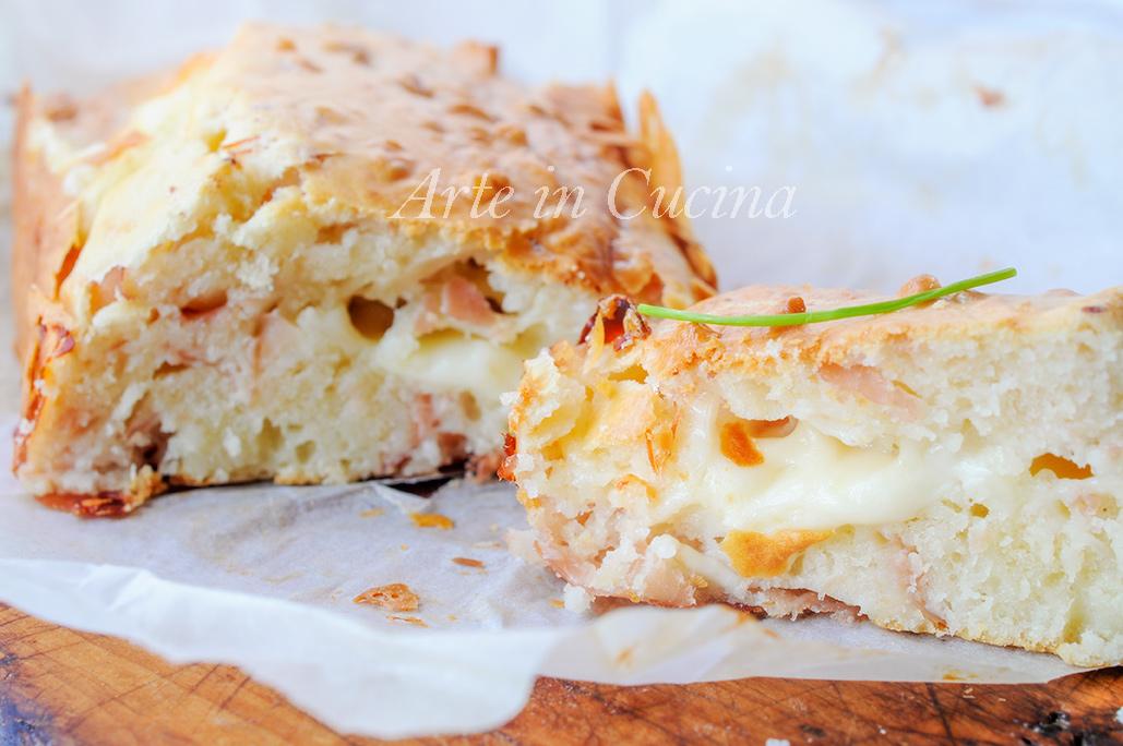 Plumcake salato di albumi con formaggio e prosciutto vickyart arte in cucina