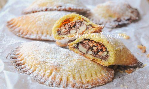 Ravioli con frutta secca e nutella ricetta facile