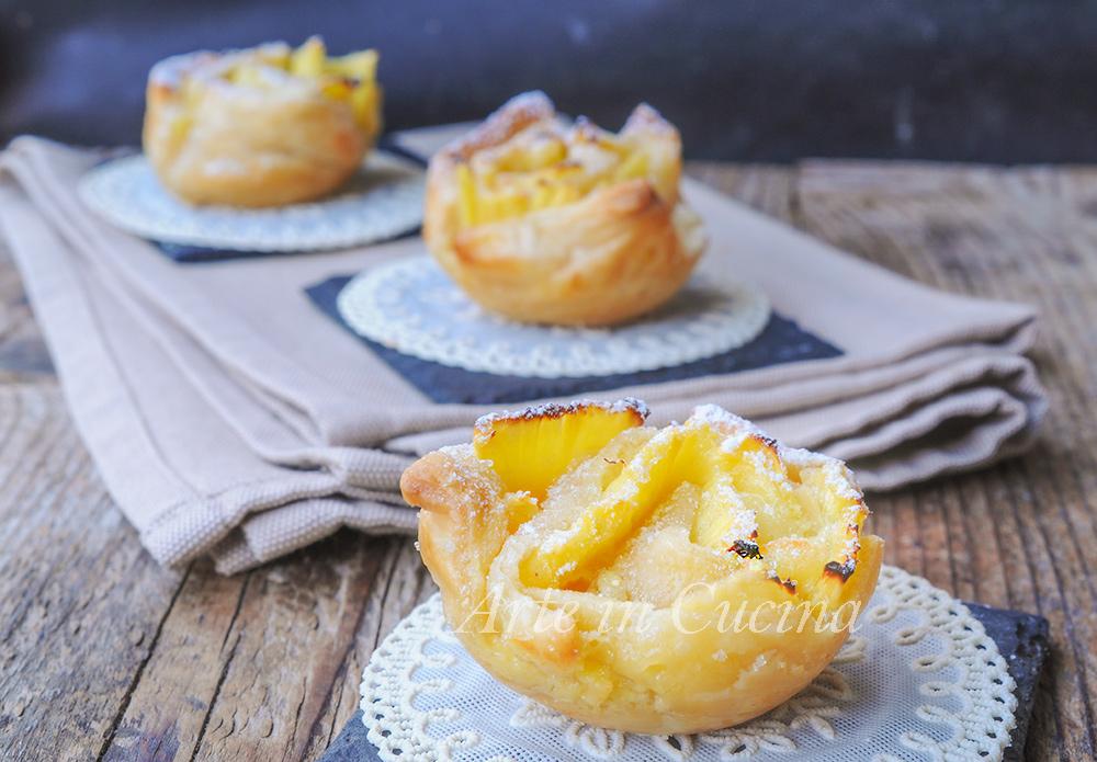 Rose di sfoglia ananas e mascarpone ricetta veloce vickyart arte in cucina