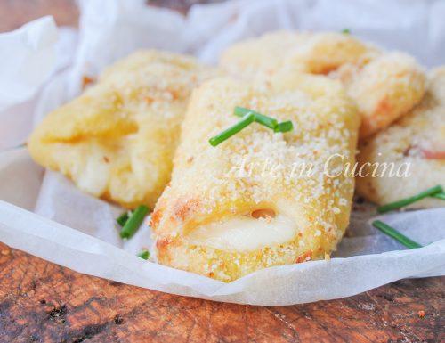 Saltimbocca di patate con prosciutto e formaggio