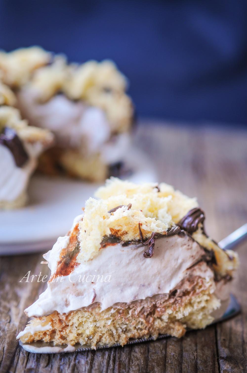 Sbriciolata di pandoro tiramisu e nutella dolce veloce vickyart arte in cucina