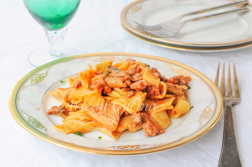 Tagliatelle ai funghi e carne ricetta facile vickyart arte in cucina