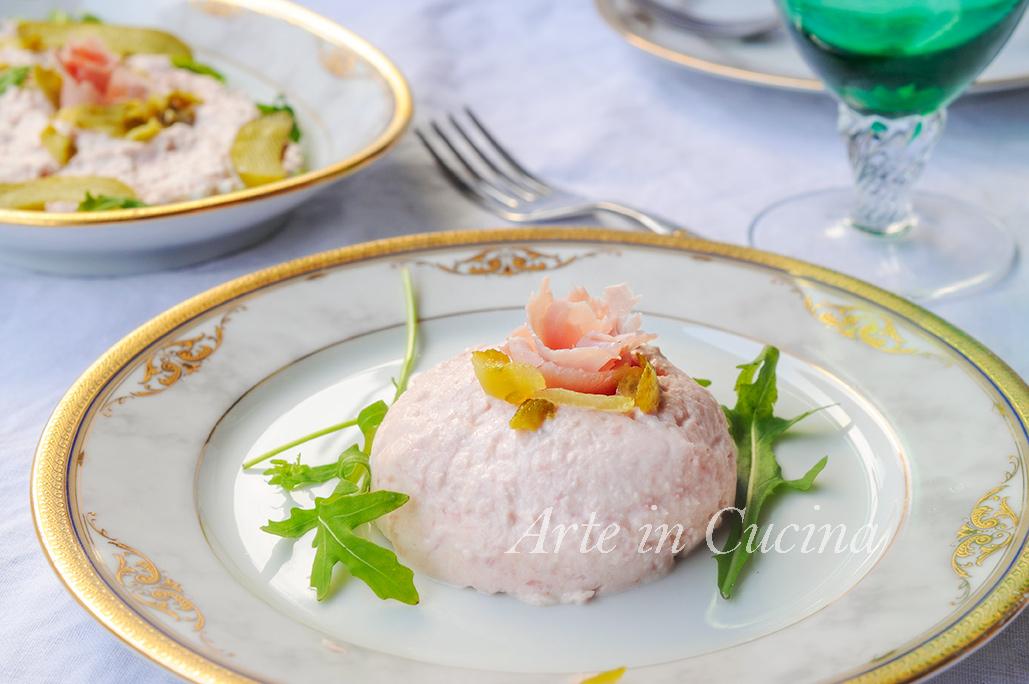 Terrina di prosciutto ricetta veloce antipasto vickyart arte in cucina