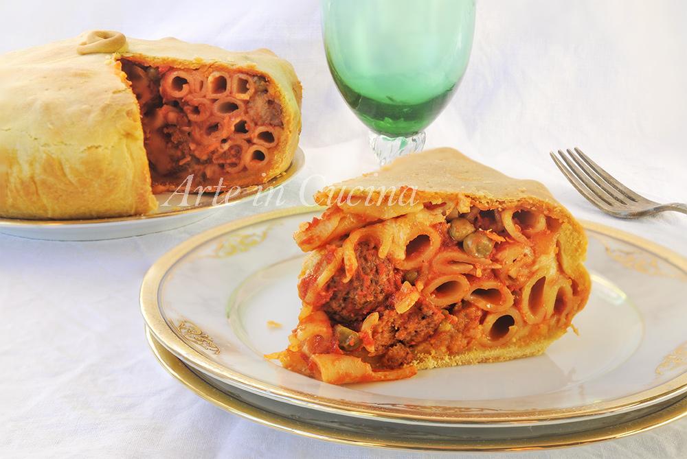 Timballo di maccheroni napoletano ricetta pasta al forno