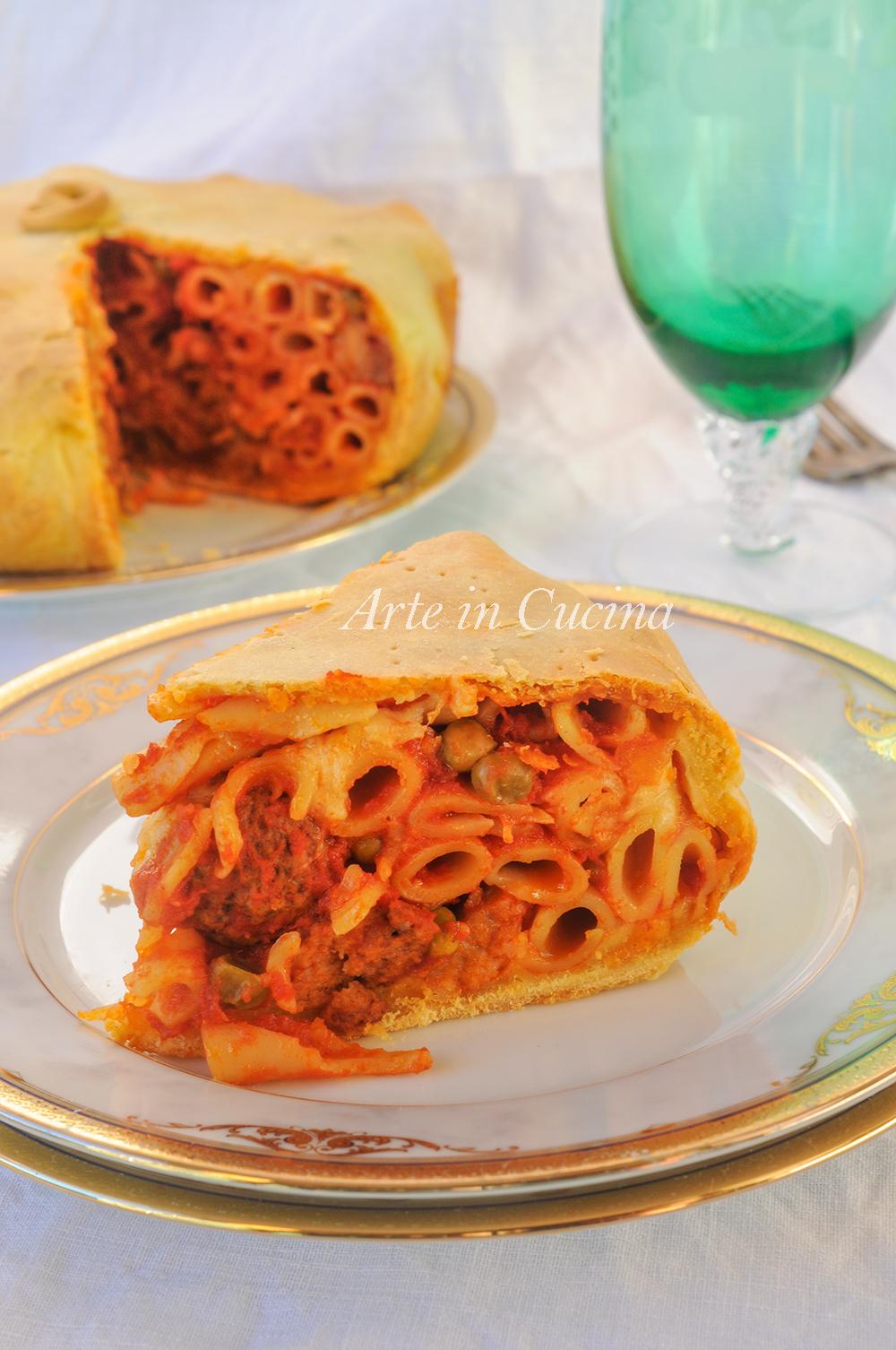 Timballo di maccheroni napoletano ricetta pasta al forno vickyart arte in cucina