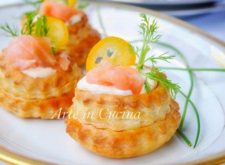 Voulevant salmone e robiola ricetta facile