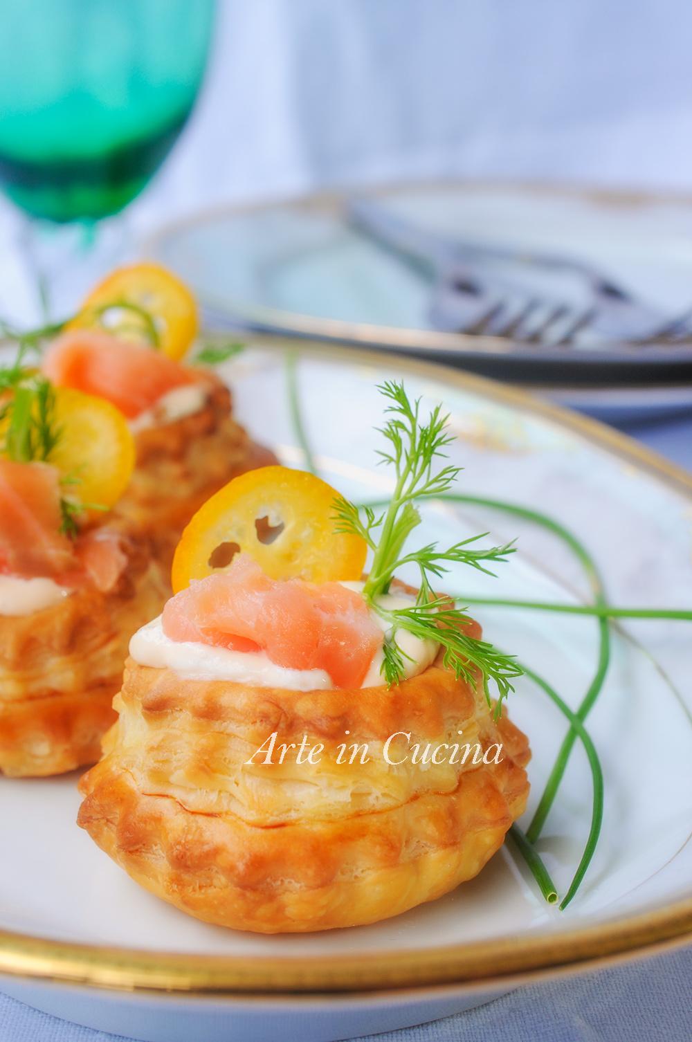 Voulevant salmone e robiola ricetta facile vickyart arte in cucina