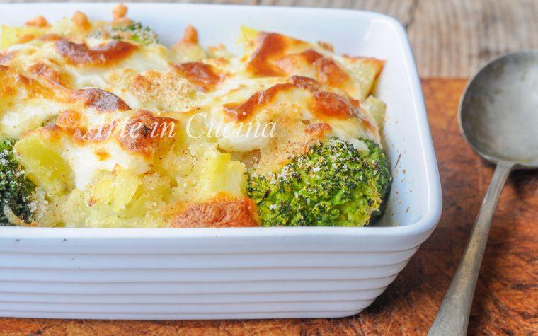 Broccoli con patate gratinati al forno ricetta facile