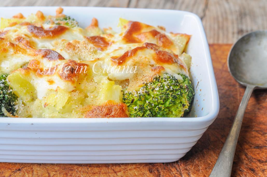 Broccoli con patate gratinati al forno vickyart arte in cucina