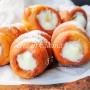 Cannoncini fritti alla crema pasticcera ricetta facile vickyart arte in cucina