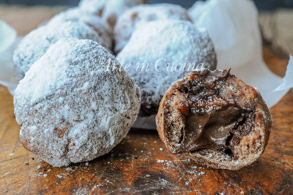 Castagnole nutella e cioccolato senza burro veloci vickyart arte in cucina