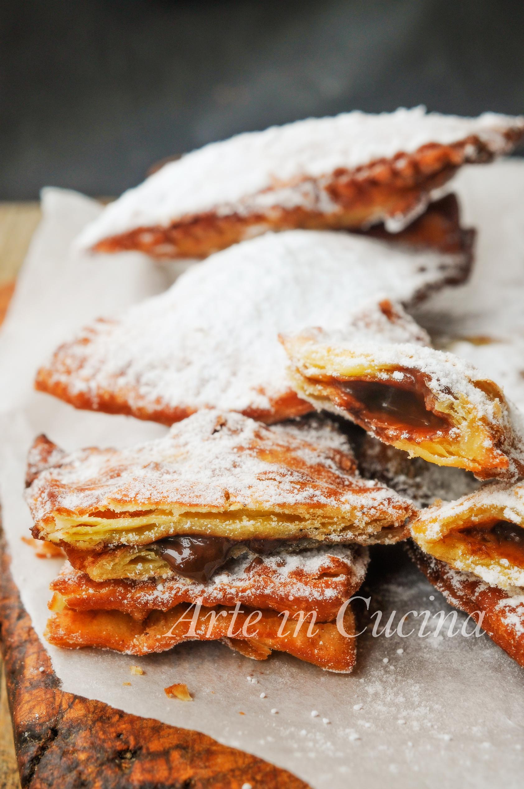 Chiacchiere ripiene di cioccolato o crema veloci vickyart arte in cucina