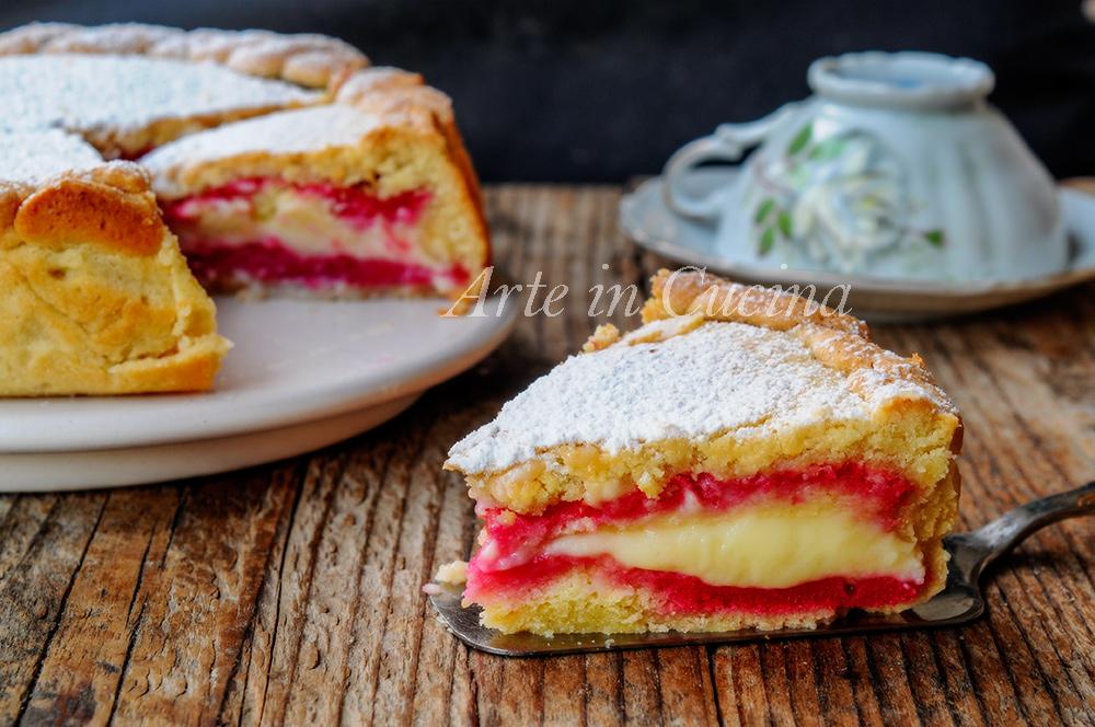 Crostata zuppetta con pan di spagna e crema vickyart arte in cucina