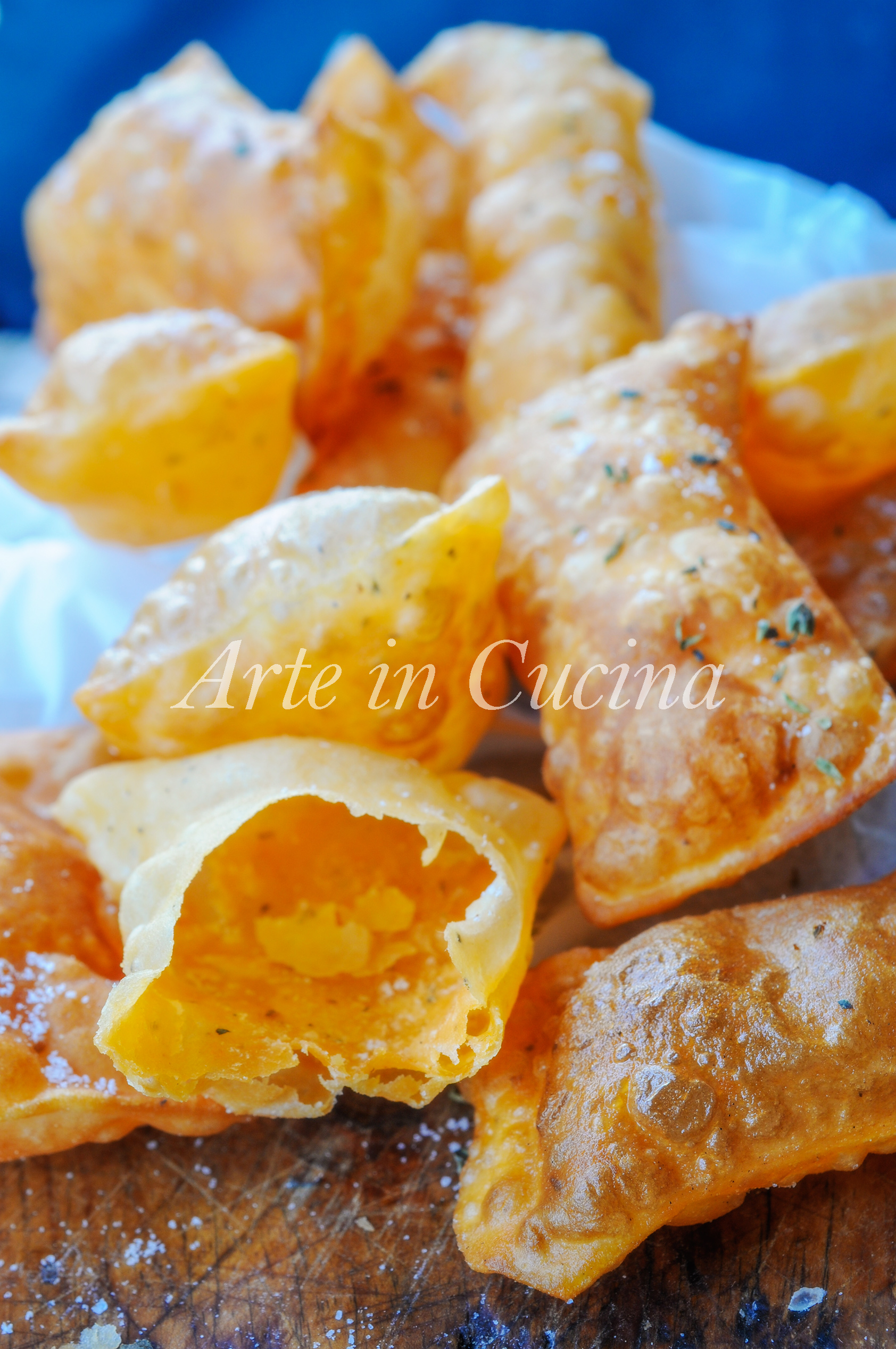 Gnocco fritto gusto pizza all'origano ricetta veloce vickyart arte in cucina