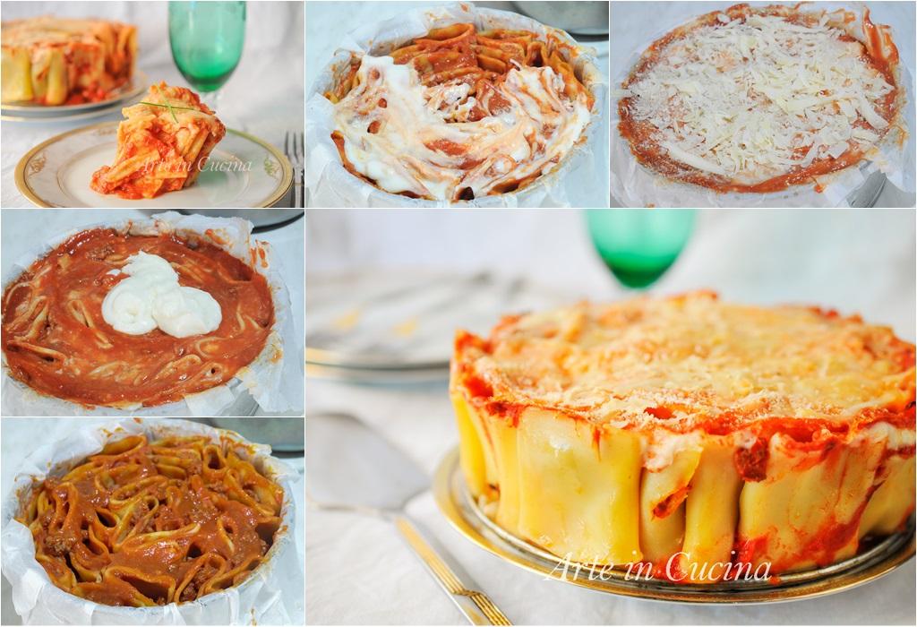 Paccheri al forno con sugo e besciamella torta di pasta vickyart arte in cucina