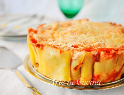 Paccheri al forno con sugo e besciamella torta di pasta