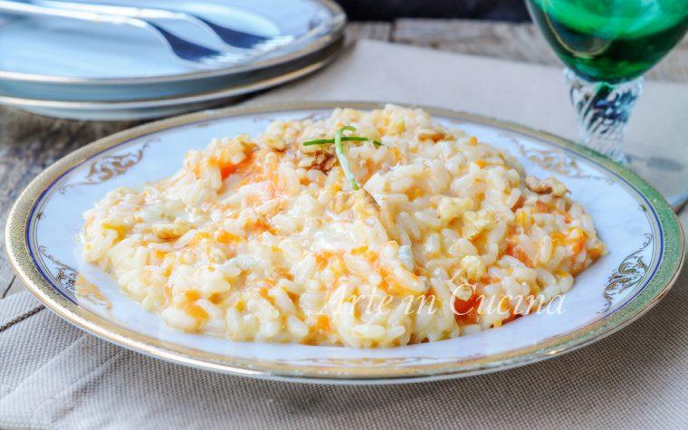 Risotto zucca e gorgonzola al mascarpone e noci