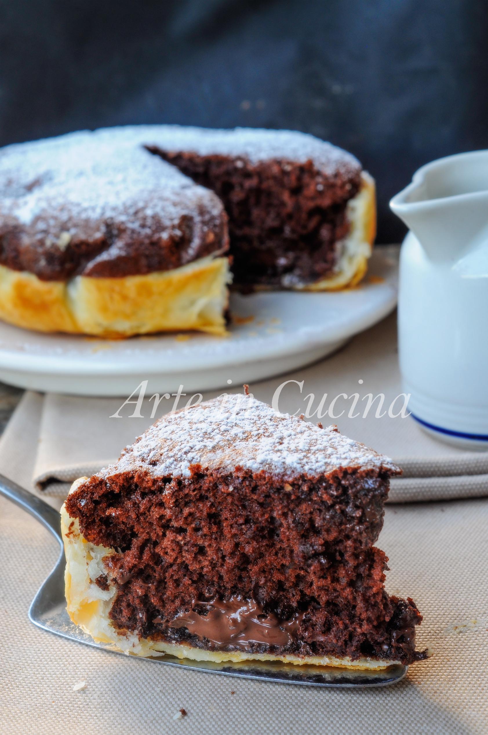 Torta Con Guscio Di Sfoglia Al Cioccolato E Nutella Arte