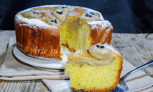 Torta nua con crema al caffè torta facile anche bimby