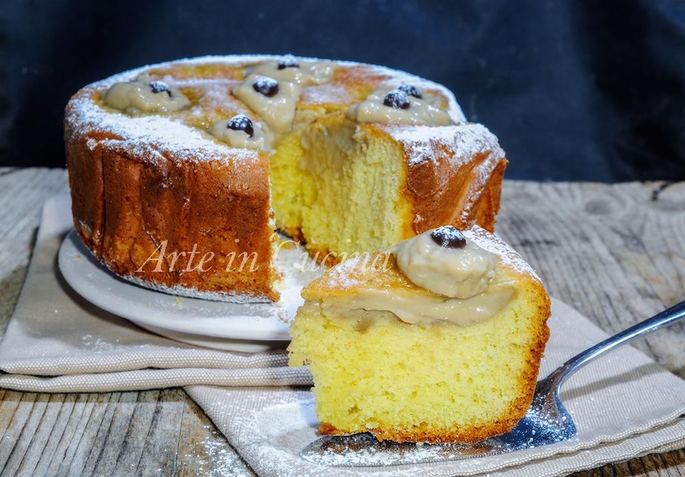 Torta nua con crema al caffè torta facile anche bimby vickyart arte in cucina