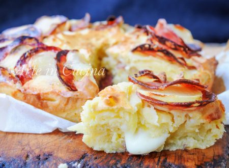 Torta salata alle patate salame e ricotta velocissima