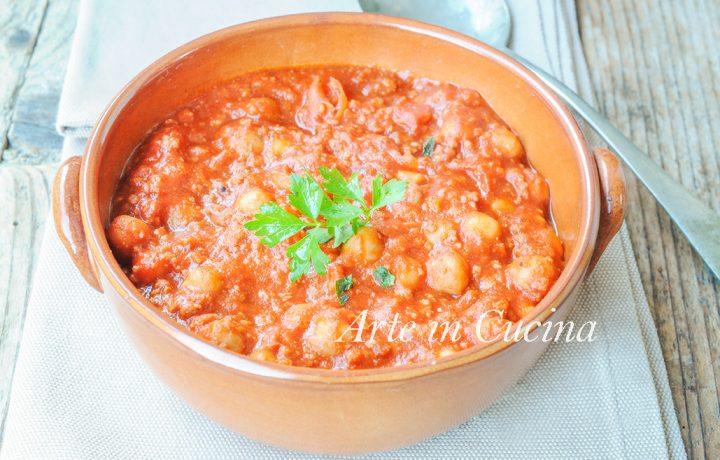 Zuppa di ceci e carne al pomodoro ricetta facile