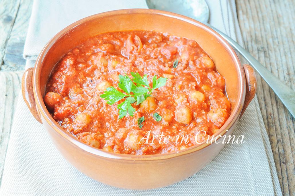 Zuppa di ceci e carne al pomodoro ricetta facile vickyart arte in cucina