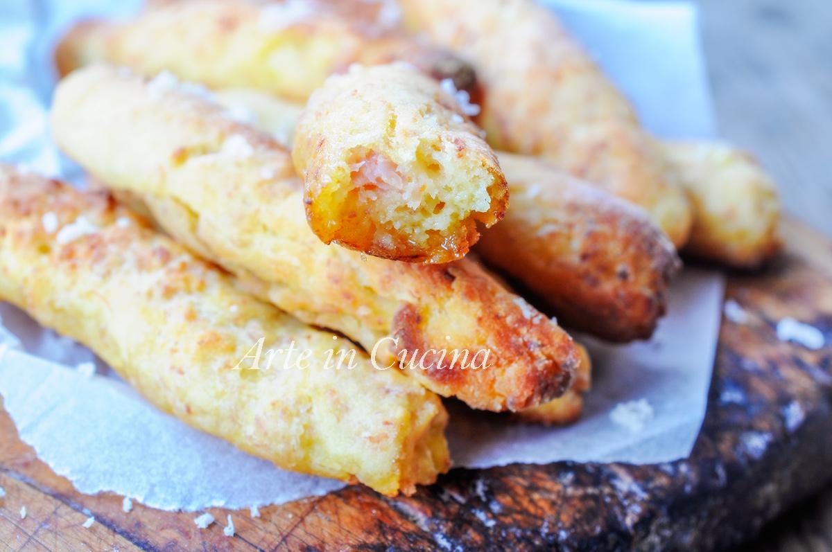 Bastoncini patate e prosciutto al forno ricetta sfiziosa vickyart arte in cucina
