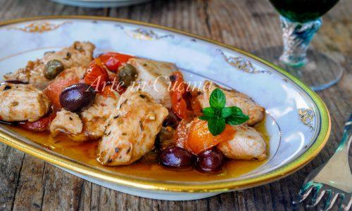 Bocconcini di tacchino alla mediterranea ricetta facile