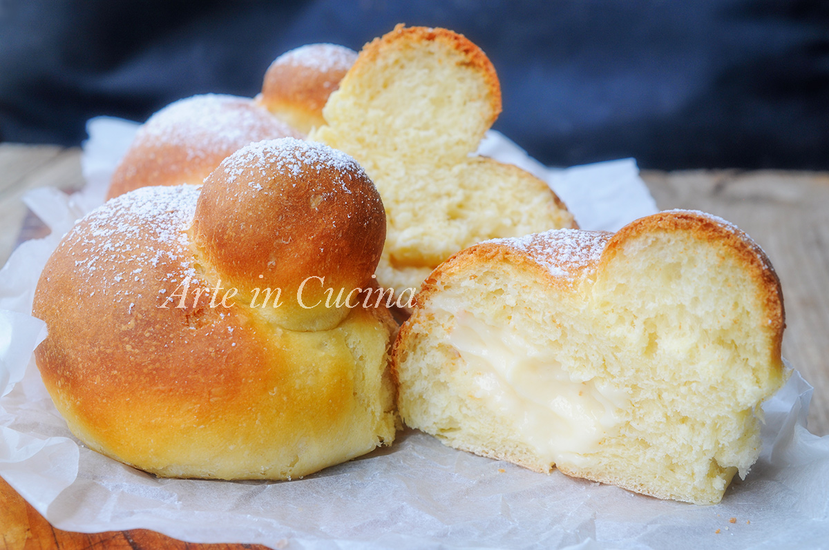 Brioche al forno con crema pasticcera al limone vickyart arte in cucina