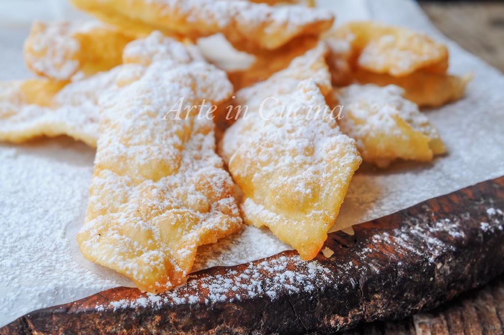 Chiacchiere al limoncello ricetta dolce veloce vickyart arte in cucina