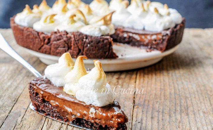 Crostata meringata al cioccolato cremosissima