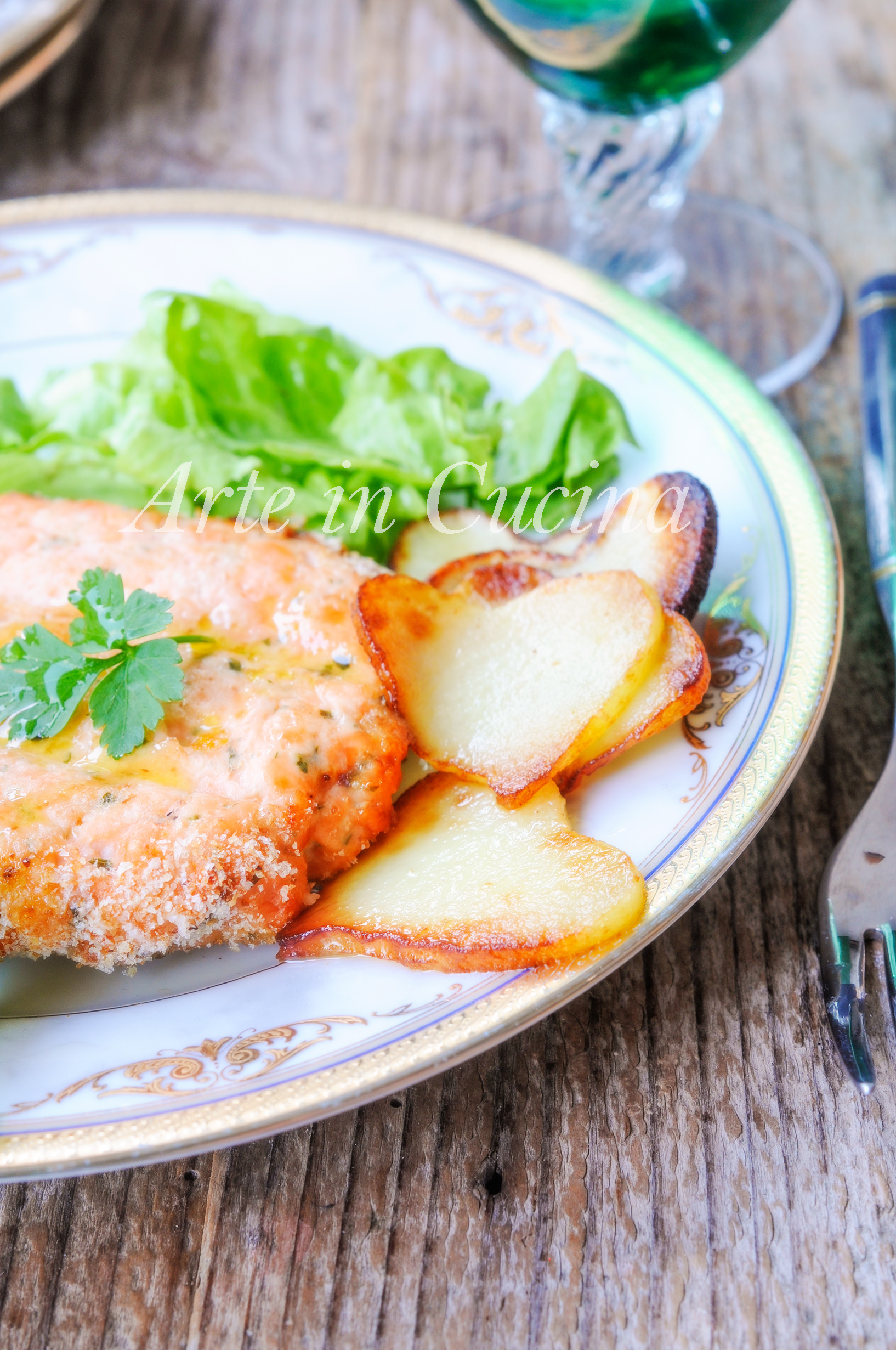 Hamburger di salmone con patate ricetta veloce vickyart arte in cucina